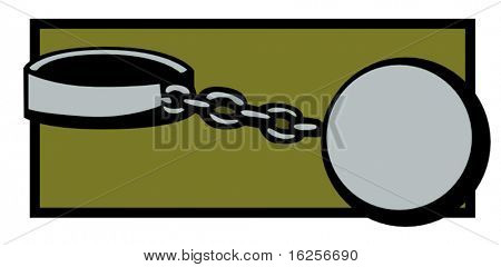prisoner shackle and chains