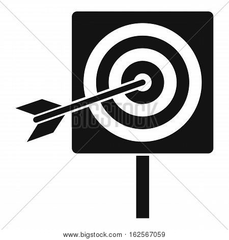 Darts icon. Simple illustration of darts vector icon for web
