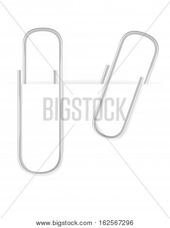 stationary paper clip stock vector illustration isolated on white background