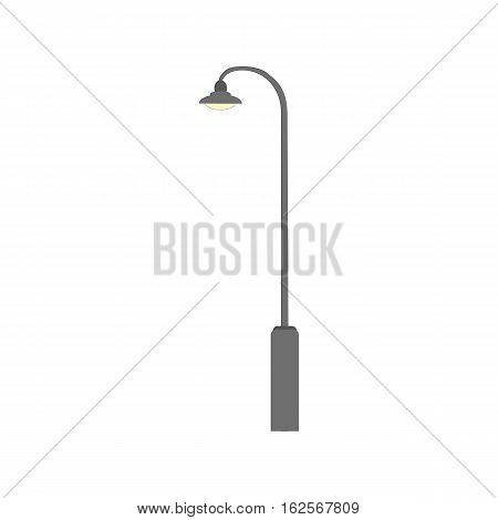 Street light sign icon. New design electricity classic light furniture. Street electric lamp. Vector flat illustration eps10