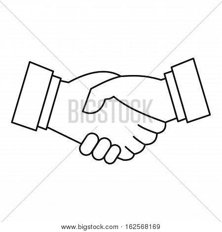 Handshake icon. Outline illustration of handshake vector icon for web