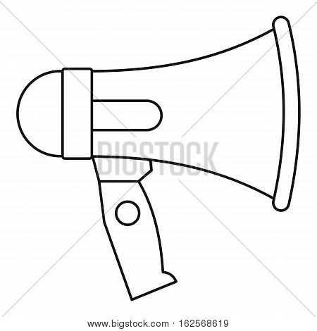 Mouthpiece icon. Outline illustration of mouthpiece vector icon for web