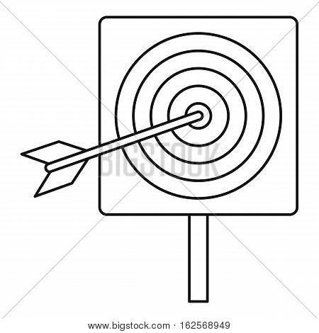 Darts icon. Outline illustration of darts vector icon for web