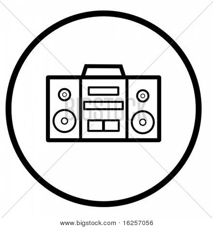 stereo audio player symbol