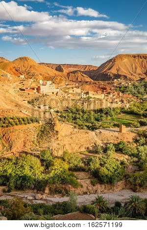 Oasis In The Valley Of Oued Dades, Morocco