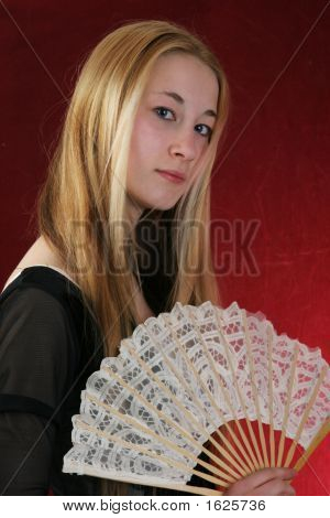 Young Lady With Fan