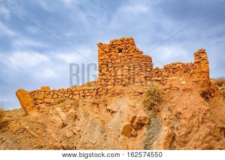 Ruins Of A House In The Area Gorges Du Dades, Morocco