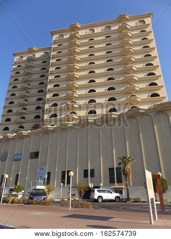 DUBAI, UAE - DEC 10: Ramada Hotel Bur Dubai in Dubai, UAE, as seen on Dec 10, 2016. It is one of the oldest hotels in the city and is scheduled to be demolished soon to make way for new construction.