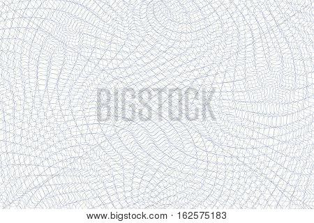 Guilloche background. Monochrome guilloche texture with waves. Original money pattern. For certificate voucher banknote money design currency note check ticket reward etc