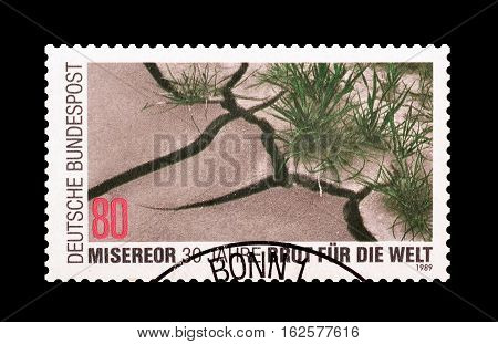 GERMANY - CIRCA 1989 : Cancelled postage stamp printed by Germany, that shows Dry Earth.