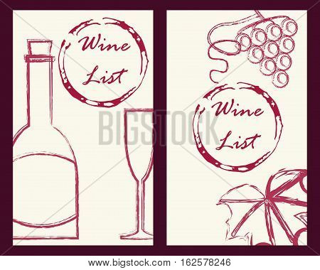 Wine Business Cards Set