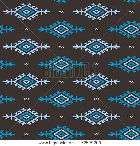 Russian ukrainian and scandinavian national knit styled pattern seamless vector illustration