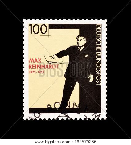 GERMANY - CIRCA 1993 : Cancelled postage stamp printed by Germany, that shows Max Reinhardt.