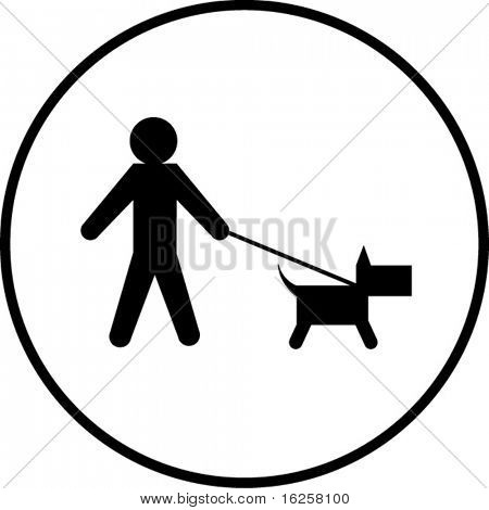 dog walk symbol