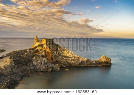 castle on a rock in Portovenere Liguria