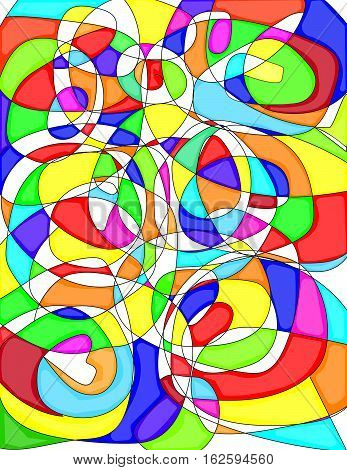 Patterned abstract art mesh for 3 dimensional objects