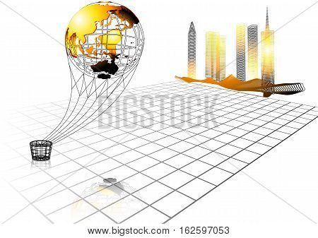voyage background with abstract earth globe. 10 EPS
