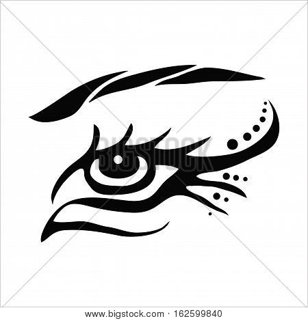 Eye vector image. Picture with eye. Symbolic eye. Vector eye logo.