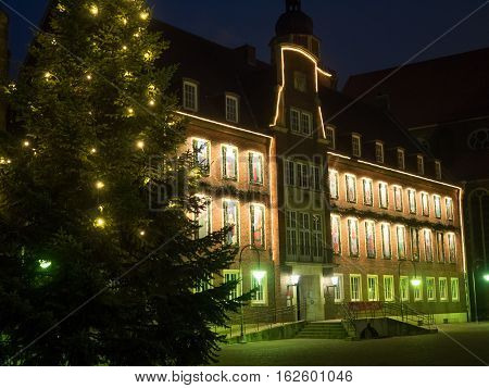 the City of Coesfeld in Germany at Christmas time