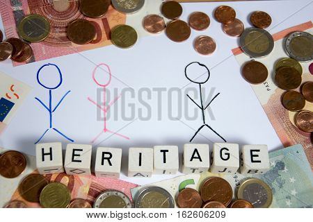 a nice symbol photo  for heritage with money