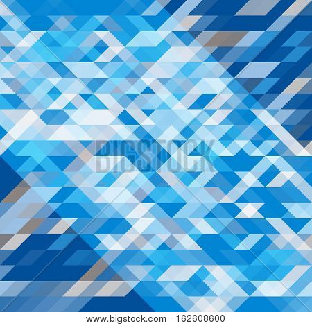 Abstract geometric background. Geometric shapes in different shades of blue and gray. Futuristic polygon pattern. For use as webpage background banner poster. Vector. Made using clipping mask