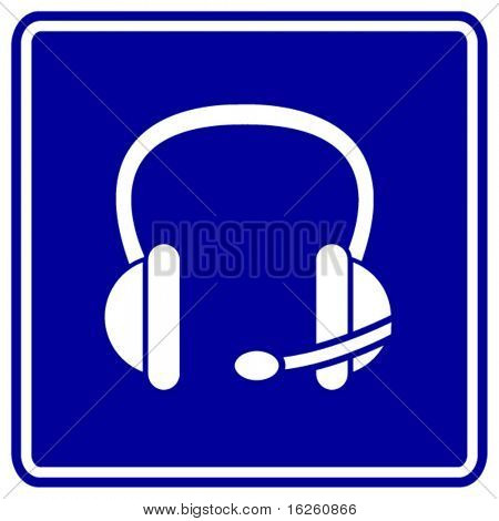 headset sign