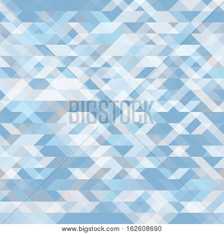 Abstract geometric seamless background. Pale blue geometric shapes mosaic. Futuristic polygon pattern. For use as webpage background banner poster. Vector. Made using clipping mask