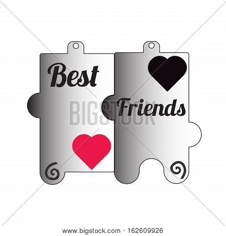 Best friend ever sign icon. Classic flat icon..Isolated over white background.