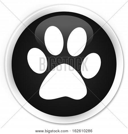Animal Footprint Icon Premium Black Round Button