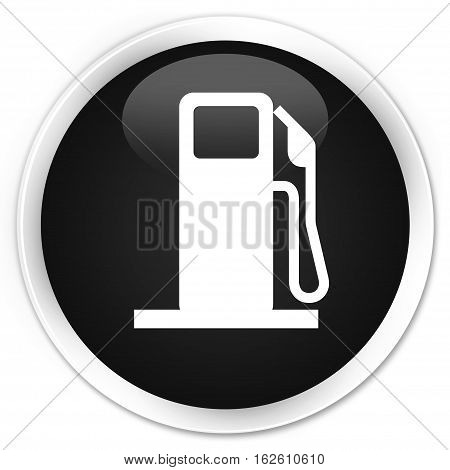 Fuel Dispenser Icon Premium Black Round Button