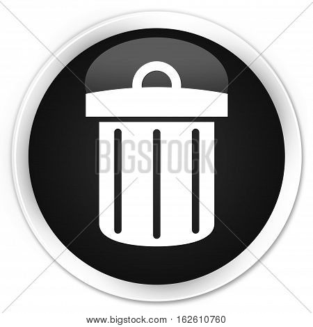 Recycle Bin Icon Premium Black Round Button