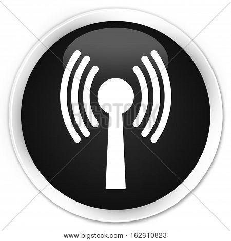 Wlan Network Icon Premium Black Round Button