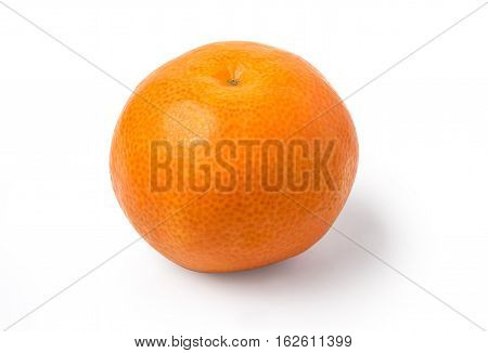 Tangerine Mandarine Orange On White Background.