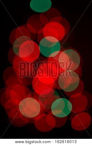 Defocused lighting and boke background in black