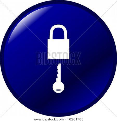 padlock and key button