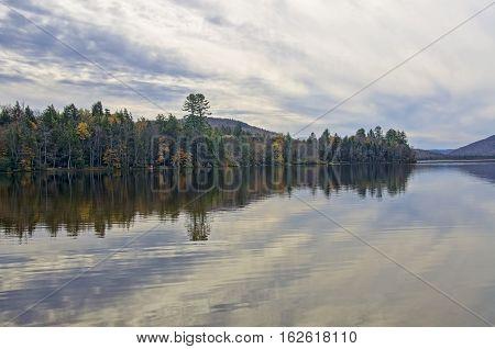 Autumn Adirondack Lake Water Reflections No. 9