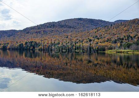 Autumn Adirondack Lake Water Reflections No. 8
