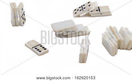 Soviet domino isolated on white background very good board game