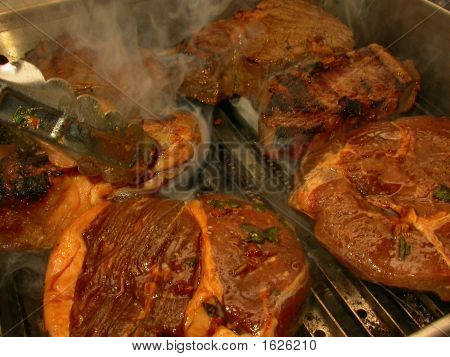 Top Sirloin Steak On The Grill
