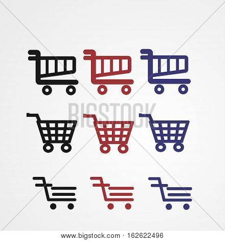 cart shop icon with vector and illustration graphic for your icons, sign, symbol, logo, and background