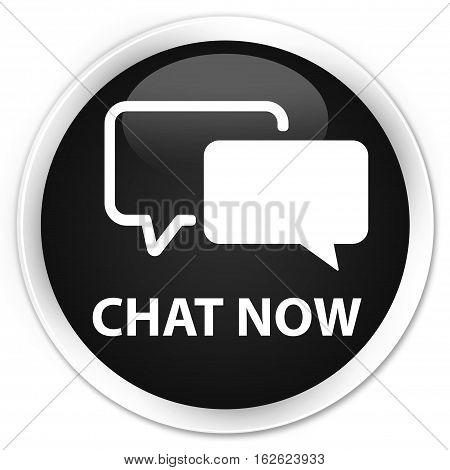 Chat Now Premium Black Round Button