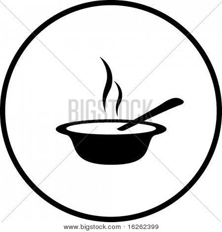 hot soup symbol