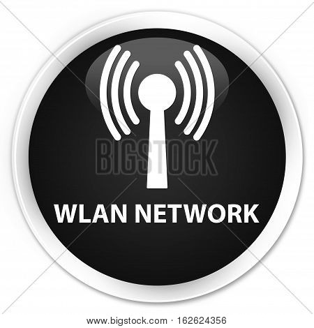 Wlan Network Premium Black Round Button