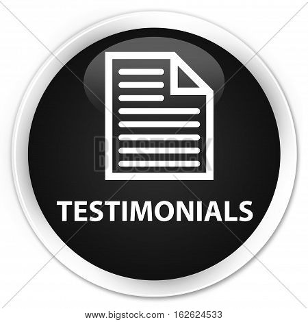 Testimonials (page Icon) Premium Black Round Button