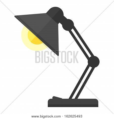 Illustration of table lamp. Vector cartoon light design. Illumination switch shiny object electricity art. Graphic equipment furniture and retro home.