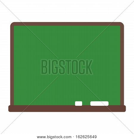 Green chalkboard school education class blank board vector illustration. Classroom frame empty drawing wooden element for space message communication sign.