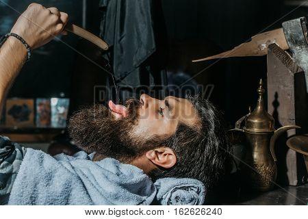 Bearded Man Has Shave