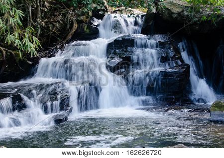 A waterfall in a Chiang Mai hiking trail