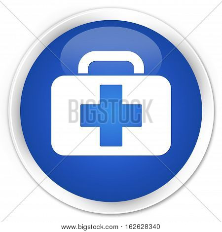 Medical Bag Icon Premium Blue Round Button