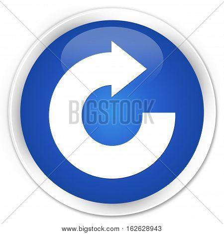 Reply Arrow Icon Premium Blue Round Button